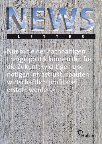 Newsletter 1 / 2008 (PDF-Datei, 990 KB - Holcim Schweiz