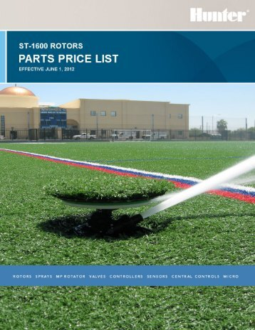 ST 1600 Parts Price List - Hunter Industries
