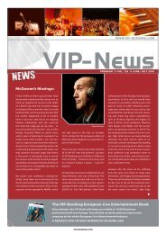 The VIP-Booking european live entertainment Book