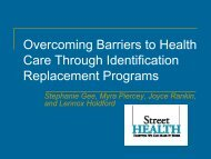 Overcoming Barriers to Health Care through ... - Wellesley Institute