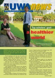 13 Mar: Vol 25, #1 - UWA News staff magazine - The University of ...