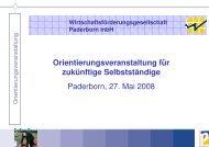 Orientierungsveranstaltung für zukünftige Selbstständige Paderborn ...
