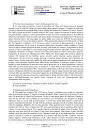 Intervista a Egidio mascioli - Biblioteca Archivio Vittorio Bobbato