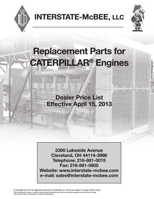 Replacement Parts for CATERPILLAR® Engines - Interstate McBee