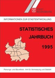 STATISTISCHES JAHRBUCH 1995 - Statistik.regensburg.de - Stadt ...
