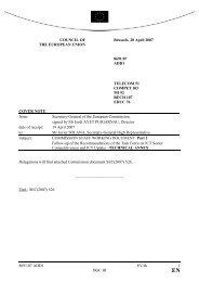 8691/07 ADD1 EV/ek 1 DGC III COUNCIL OF THE ... - Europa