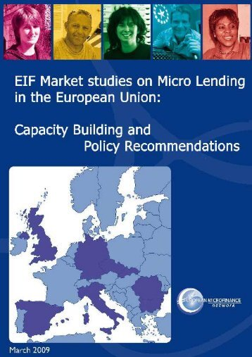 EIF Market Studies on Micro Lending in the European Union