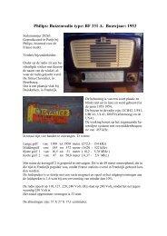 Philips: Buizenradio type: BF 331 A. Bouwjaar: 1953