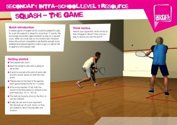 squash - the game - School Games