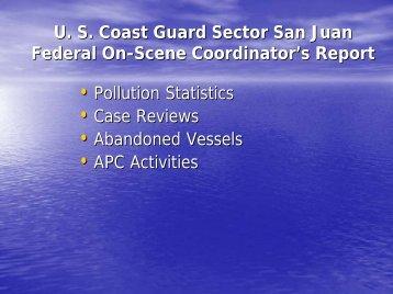 Sector SJ CRRT Brief - U.S. National Response Team (NRT)