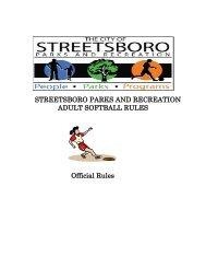 2012 Softball Rules.pdf - Streetsboro