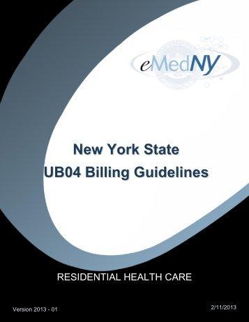 Residential Health Billing Guidelines - eMedNY
