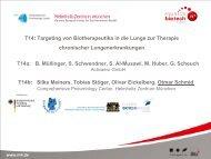 T14: Targeting von Biotherapeutika in die Lunge zur ... - Der Cluster