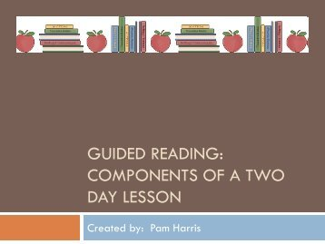 Guided Reading - Pickens Instructional Technology