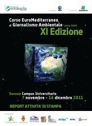 Report attività di stampa - La Nuova Ecologia