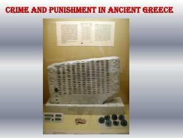 Crime And Punishment In Ancient Greece