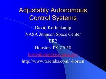 Adjustable Autonomy - TRACLabs