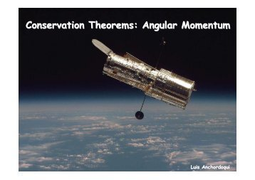 Conservation Theorems: Angular Momentum