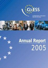 CoESS Activities Report 2005