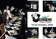 19-20 October, 2009 - Egyptian Chefs Association