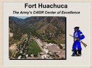 Ft. Huachuca Presentation