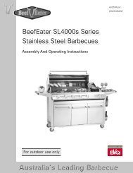 Signature SL Series Instruction Manual - BeefEater Barbecues UK