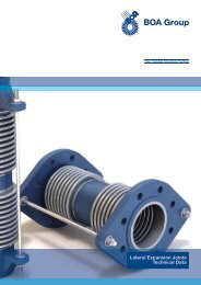 Lateral Expansion Joints - Technical Data - BOA Group
