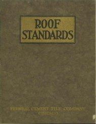 Roof Standards -c. 1925