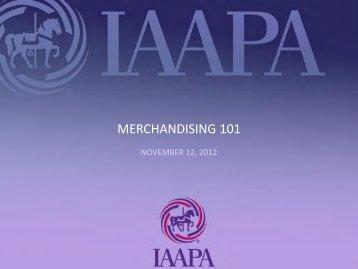 MERCHANDISING 101 - IAAPA