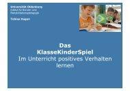 Das KlasseKinderSpiel Im Unterricht positives ... - Suchtinfo Oberpfalz