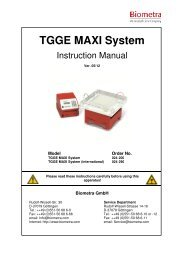 TGGE MAXI manual - Biometra