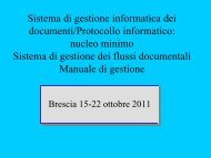 Relazione n.3 del dott. Mauro Livraga - Diocesi di Brescia