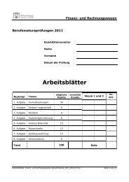 2011 M RW Arb - Wirtschaftsschule KV Chur