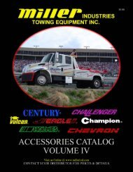 Accessories Catalog - Miller Industries