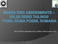 Mining risk assessments – Valea Sesei tailings pond, Rosia Poieni ...