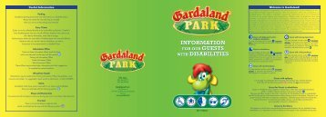 INFORMATION WITH DISABILITIES INFORMATION WITH - Gardaland