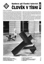 Výroční zpráva 1998 - Člověk v tísni