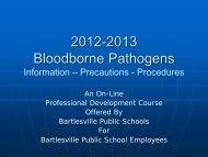 Bloodborne Pathogens Training PDF - Bartlesville Public Schools
