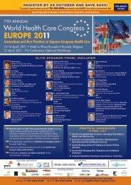 EUROPE 2011 - SFES - Société Française en Economie de la Santé