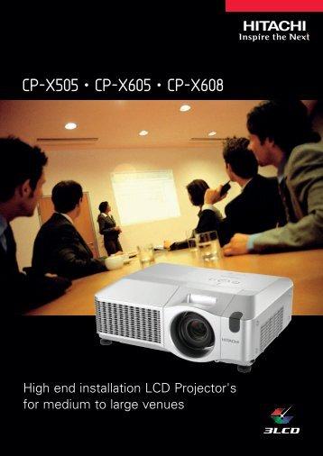 CP-X505 • CP-X605 • CP-X608 - Galax Kft.