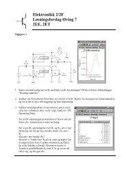 Elektronikk 2/2F Løsningsforslag Øving 7 2EE, 2ET