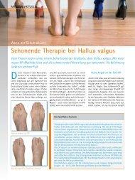 Schonende Therapie bei Hallux valgus - Fusschirurgie Dr. Rudolf ...