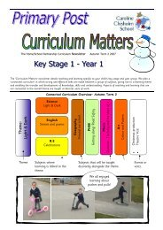 Primary Post Curriculum Matters Year 1 Autumn 2 2007