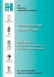 Die Deutschen Heilpraktikerverbände 02. und 03. Mai 2009 - DDH