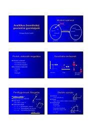 Analitikus (koordináta) geometriai gyorstalpaló