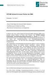VOTUM Verband ist neuer Partner der DMA - Deutsche Makler ...