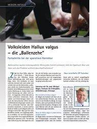 """Volksleiden Hallux valgus – die """"Ballenzehe"""" - Magin, Dr. med ..."""