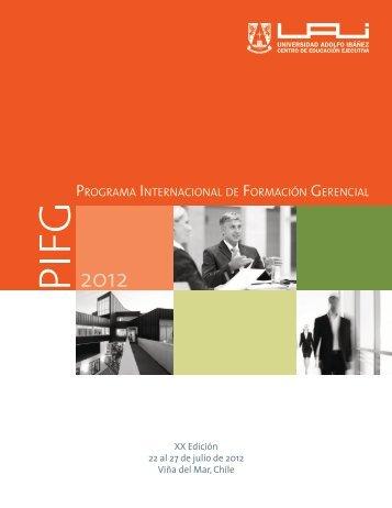 PROGRAMA INTERNACIONAL DE FORMACIóN GERENCIAL