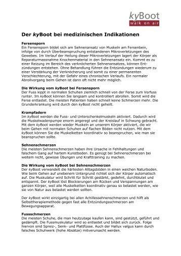 kyBoot bei medizinischen Indikationen - Rücken- und Relaxzentrum ...