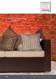 15 Jahre Kissenmanufaktur - Rübeling Textil Gartenmöbelauflagen